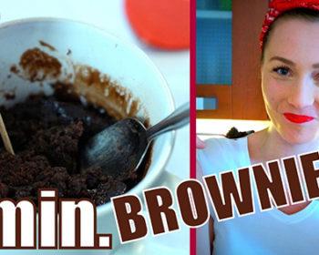 Hotové za 1 minútu! Čokoládový brownie koláč do hrnčeka